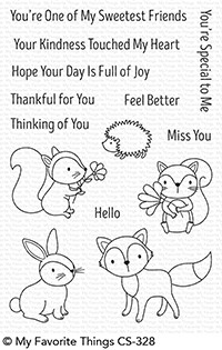 My Favorite Things WOODLAND FRIENDS Clear Stamps CS328