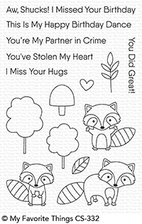 My Favorite Things FRIENDLY RACCOONS Clear Stamps CS332