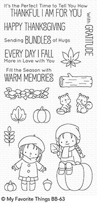 My Favorite Things FALL FRIENDS Clear Stamps BB63 Preview Image