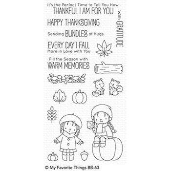 My Favorite Things FALL FRIENDS Clear Stamps BB63