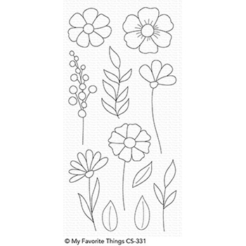 My Favorite Things WILDFLOWERS Clear Stamps CS331