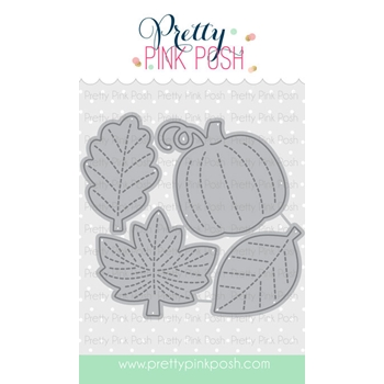 Pretty Pink Posh SMALL STITCHED FOLIAGE Dies