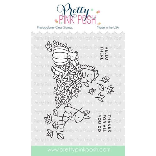 Pretty Pink Posh FALL SCENE Clear Stamps Preview Image
