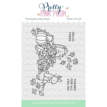 Pretty Pink Posh FALL SCENE Clear Stamps