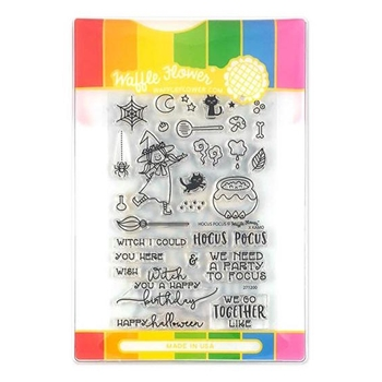 Waffle Flower HOCUS POCUS Clear Stamps and Die Combo WFC200