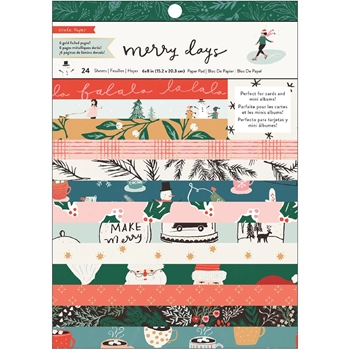 Crate Paper MERRY DAYS 6 x 8 Paper Pad 344519