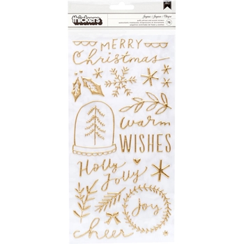 Crate Paper MERRY DAYS Phrase Thickers Stickers 344507