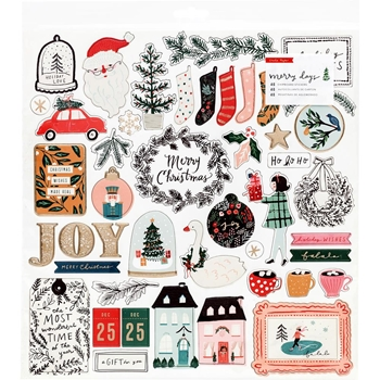 Crate Paper MERRY DAYS 12 x 12 Chipboard Stickers 344509