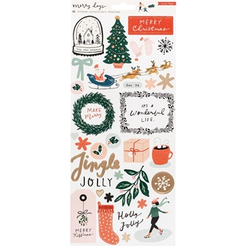 Crate Paper MERRY DAYS 6 x 12 Stickers 344510