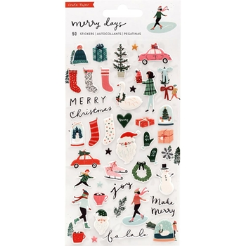 Crate Paper MERRY DAYS Puffy Stickers 344522