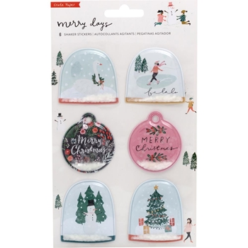 Crate Paper MERRY DAYS Shaker Stickers 344512
