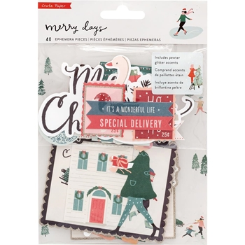 Crate Paper MERRY DAYS Ephemera 344521