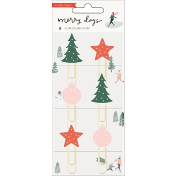Crate Paper MERRY DAYS Decorative Clips 344513