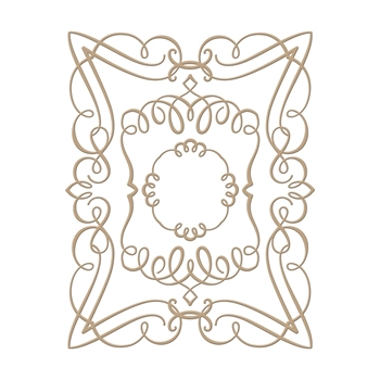 GLP-029 Spellbinders ELEGANT RECTANGLE Glimmer Hot Foil Plates