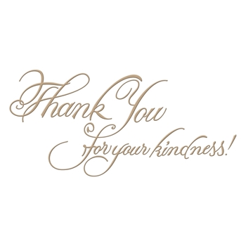 GLP-026 Spellbinders COPPERPLATE SCRIPT KINDNESS Glimmer Hot Foil Plate