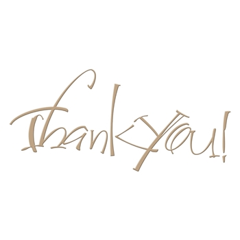 GLP-024 Spellbinders THANK YOU Glimmer Hot Foil Plate