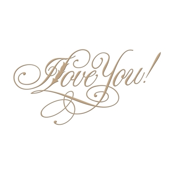 GLP-016 Spellbinders COPPERPLATE SCRIPT I LOVE YOU Glimmer Hot Foil Plate