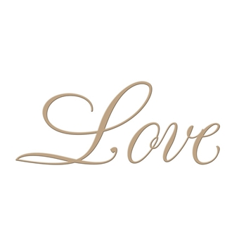 GLP-013 Spellbinders COPPERPLATE SCRIPT LOVE Glimmer Hot Foil Plate