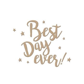 GLP-007 Spellbinders BEST DAY EVER Glimmer Hot Foil Plate