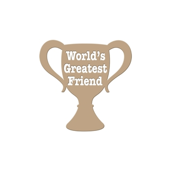 GLP-004 Spellbinders WORLD'S GREATEST FRIEND Glimmer Hot Foil Plate