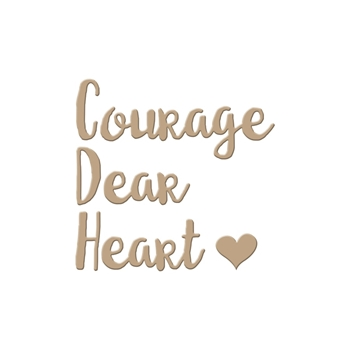GLP-002 Spellbinders COURAGE DEAR HEART Glimmer Hot Foil Plate