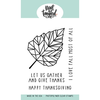 Neat and Tangled BIRCH LEAF Clear Stamps NAT420