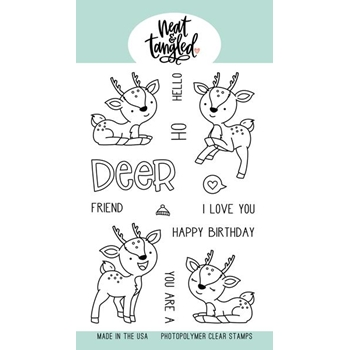 Neat and Tangled OH DEER Clear Stamps NAT416