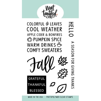 Neat and Tangled HELLO FALL Clear Stamps NAT414