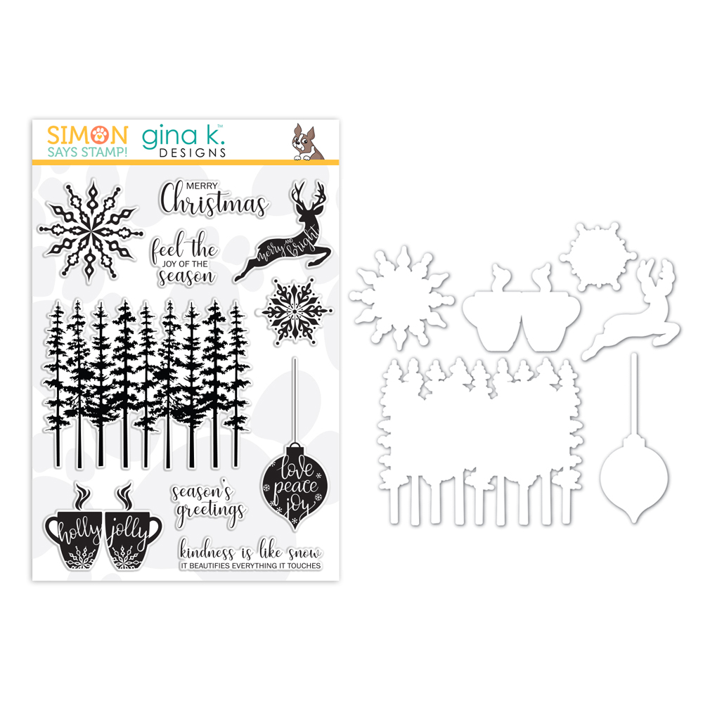 Gina K Designs Clear Stamp and Die Set JOY OF THE SEASON SR18SETGK STAMPtember Exclusive Preview Image