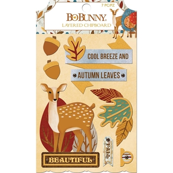 BoBunny BEAUTIFULLY BRISK Layered Chipboard 7310329