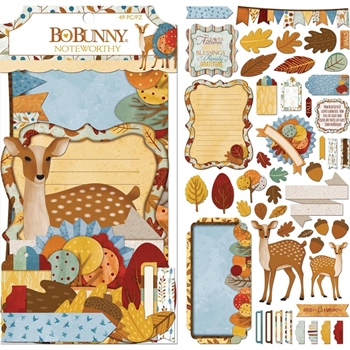 BoBunny BEAUTIFULLY BRISK Die Cuts Noteworthy 7310330