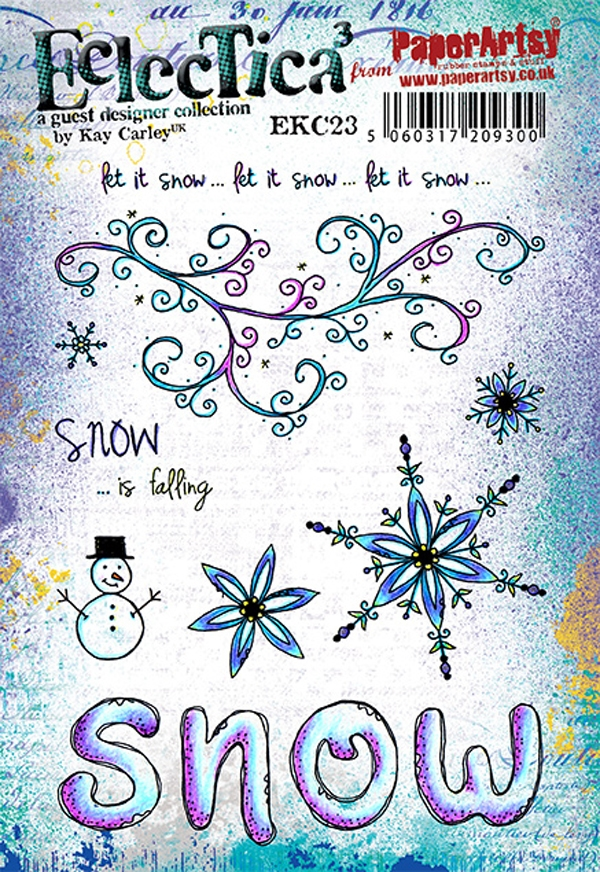 Paper Artsy ECLECTICA3 KAY CARLEY 23 Cling Stamp ekc23 zoom image