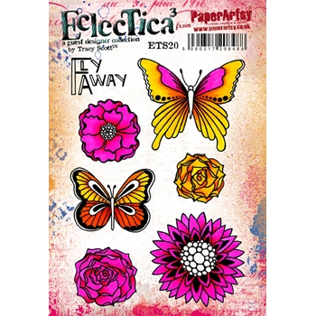 Paper Artsy ECLECTICA3 TRACY SCOTT 20 Cling Stamp ets20
