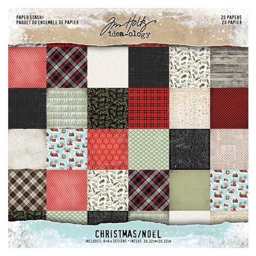 Tim Holtz Idea-ology 8 x 8 Mini Paper Stash CHRISTMAS Paperie th93739 Preview Image