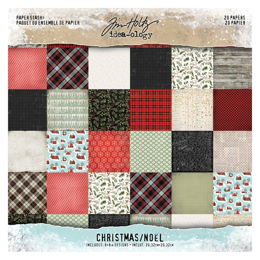 Tim Holtz Idea-ology 8 x 8 Mini Paper Stash CHRISTMAS Paperie th93739 zoom image