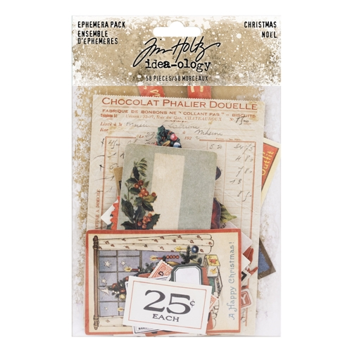 Tim Holtz Idea-ology Ephemera Pack CHRISTMAS th93740 Preview Image