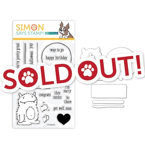 Concord 9th Clear Stamp And Die Set MONSTER HUGS SR18SETC9 STAMPtember Exclusive Preview Image Shadow
