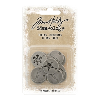 RESERVE Tim Holtz Idea-ology CHRISTMAS Tokens th93750