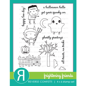 Reverse Confetti FRIGHTENING FRIENDS Clear Stamps