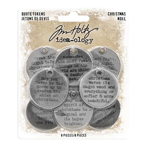 Tim Holtz Idea-ology CHRISTMAS Quote Tokens th93751 Preview Image