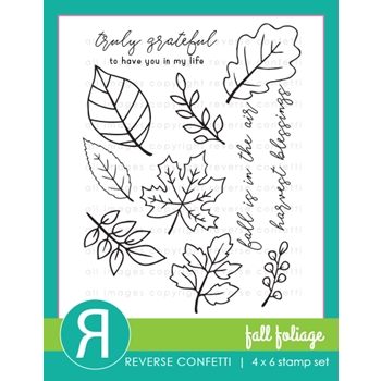 Reverse Confetti FALL FOLIAGE Clear Stamps