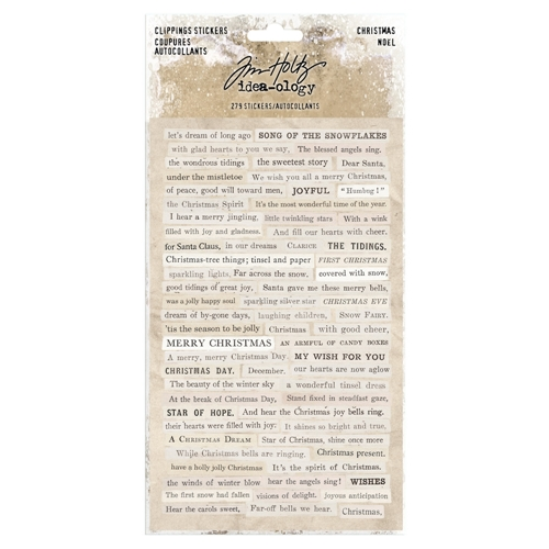 Tim Holtz Idea-ology CHRISTMAS Clippings Stickers Paperie th93754 Preview Image