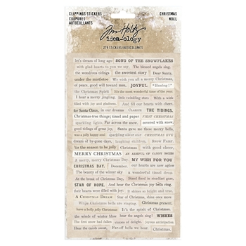 RESERVE Tim Holtz Idea-ology CHRISTMAS Clippings Stickers Paperie th93754
