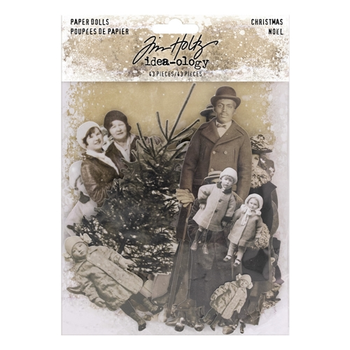 Tim Holtz Idea-ology CHRISTMAS Paper Dolls Paperie th93756 Preview Image