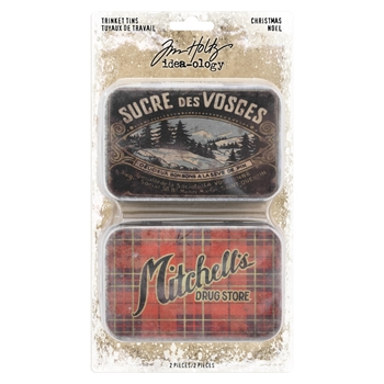 RESERVE Tim Holtz Idea-ology CHRISTMAS Trinket Tins th93761