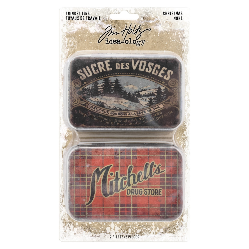 Tim Holtz Idea-ology CHRISTMAS Trinket Tins th93761 zoom image