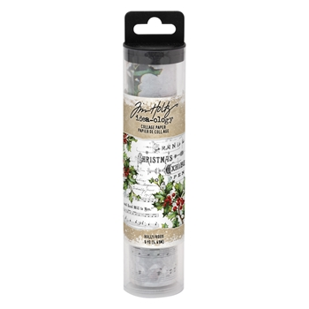 RESERVE Tim Holtz Idea-ology HOLLY Collage Paper th93762