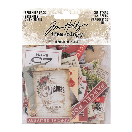 Tim Holtz Idea-ology Ephemera Pack CHRISTMAS SNIPPETS th93765 Preview Image