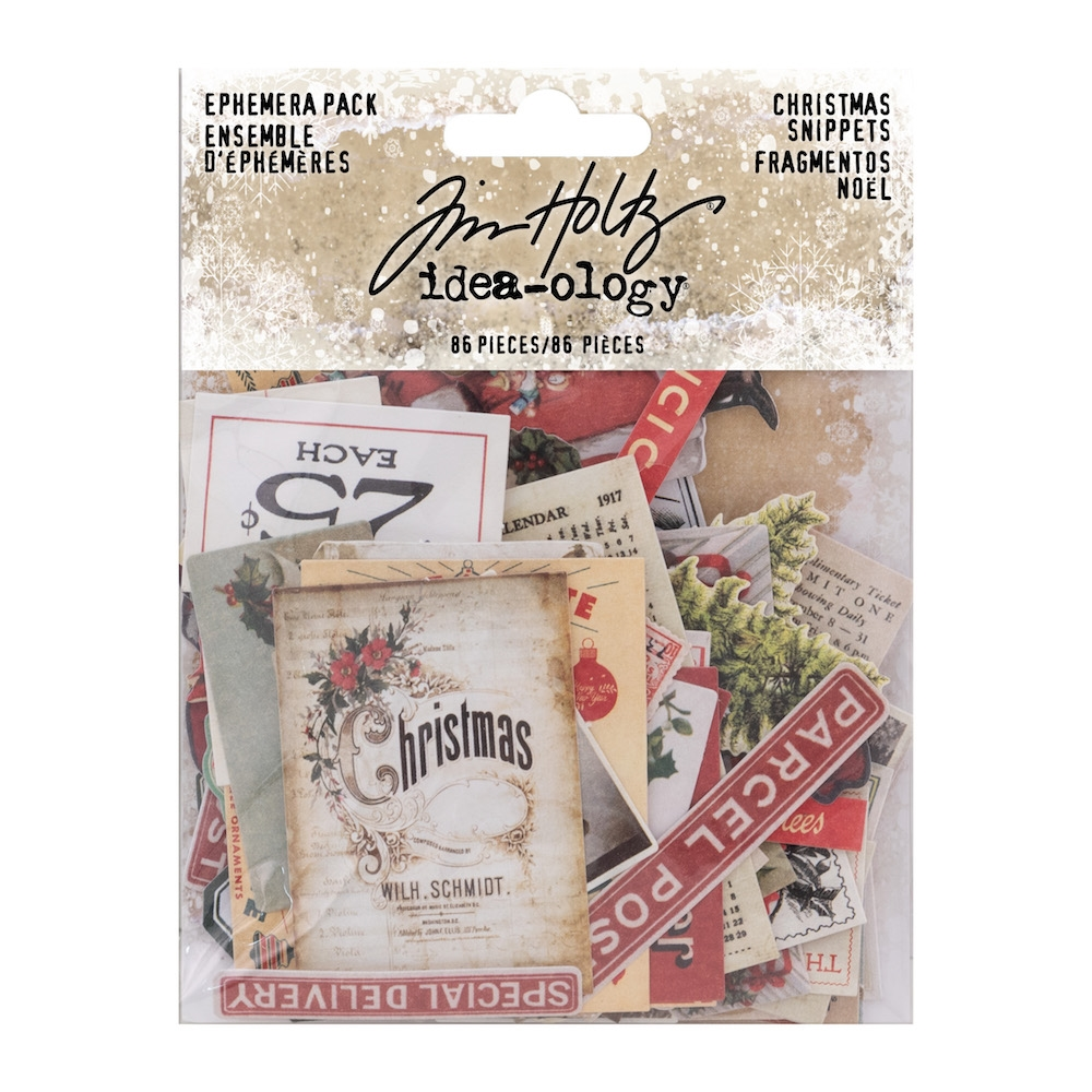 Tim Holtz Idea-ology Ephemera Pack CHRISTMAS SNIPPETS th93765 zoom image