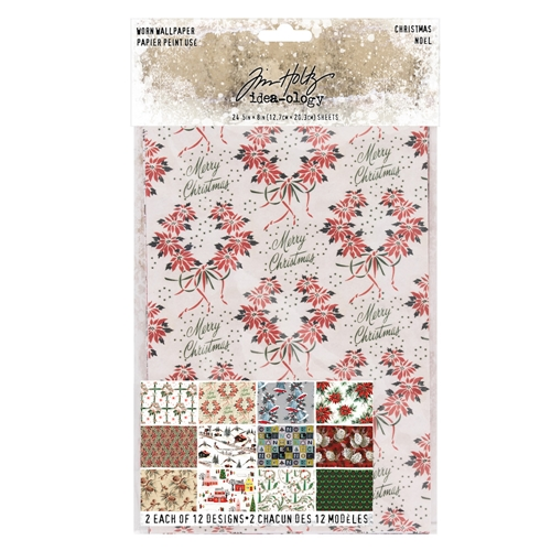 Tim Holtz Idea-ology CHRISTMAS Worn Wallpaper th93777 Preview Image